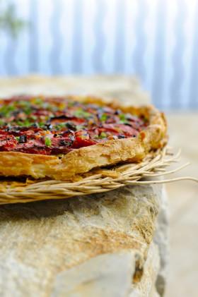 Рецепт Быстрый томатный пирог