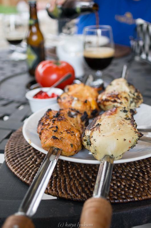 Куриные грудки-гриль маринованные в маринадах с Cachaça и с Cheiro Verde