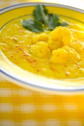 Рецепт Суп-пюре из цветной капусты с шафраном